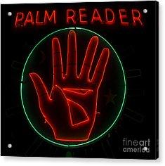 Palm Reader Neon Sign Acrylic Print