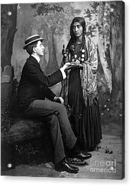 Palm-reading, C1910 Acrylic Print