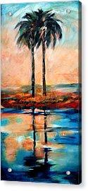 Palm Reflection 4 Acrylic Print by Linda Olsen