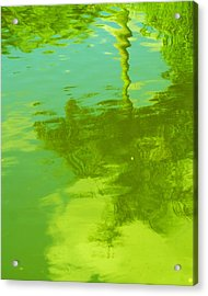 Palm Shimmer Acrylic Print