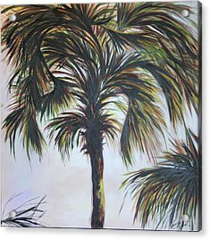 Palm Silhouette Acrylic Print by Michele Hollister - for Nancy Asbell