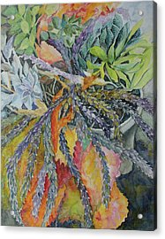 Acrylic Print featuring the painting Palm Springs Cacti Garden by Joanne Smoley