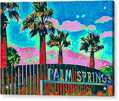 Palm Springs Gateway Three Acrylic Print