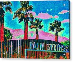 Palm Springs Gateway Three Acrylic Print by Randall Weidner