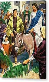 Palm Sunday Acrylic Print by Clive Uptton