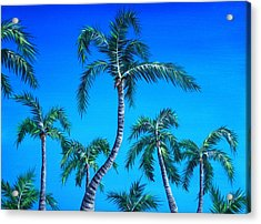 Palm Tops Acrylic Print by Anastasiya Malakhova
