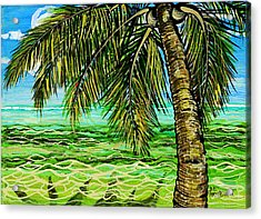 Palm Tree Acrylic Print by Debbie Chamberlin