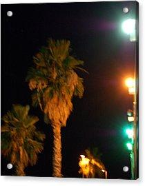 Palm Tree Glow Acrylic Print by Heather S Huston