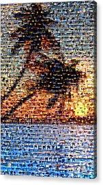 Acrylic Print featuring the mixed media Palm Tree Mosaic by Paul Van Scott