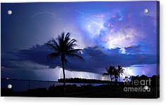 Palm Tree Nights Acrylic Print