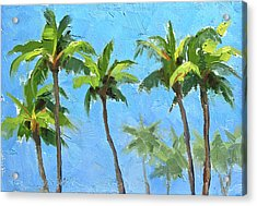 Palm Tree Plein Air Painting Acrylic Print