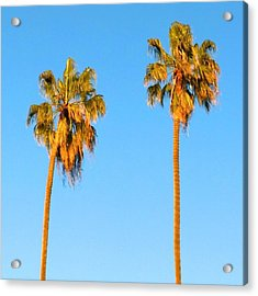 #palm #trees At Sunset. #california Acrylic Print