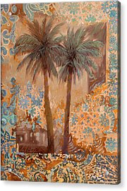 Palme E Decori Acrylic Print by Guido Borelli