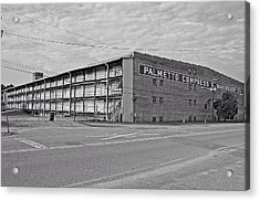 Palmetto Compress Warehouse Bw Acrylic Print