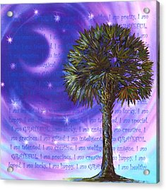 Palmetto Gratitude Acrylic Print