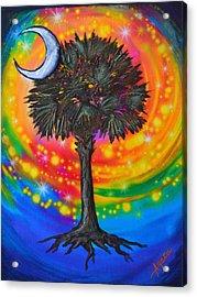 Palmetto Tree Of Life Acrylic Print