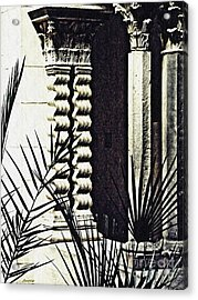Palms And Columns Acrylic Print by Sarah Loft