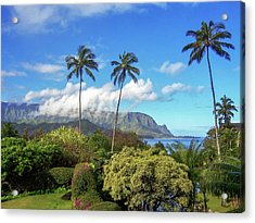Palms At Hanalei Acrylic Print by James Eddy