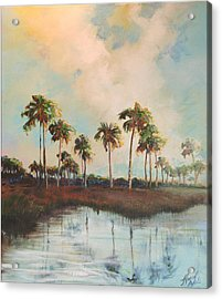 Palms Of Course Acrylic Print by Michele Hollister - for Nancy Asbell