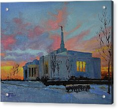 Palmyra Temple At Sunset Acrylic Print
