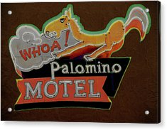 Acrylic Print featuring the photograph Palomino Motel by Jeff Burgess