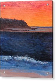 Acrylic Print featuring the painting Palos Verdes Sunset by Jamie Frier