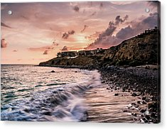 Palos Verdes Sunset Acrylic Print by Seascaping Photography