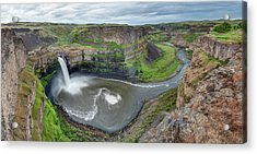 Palouse Falls In The Spring Acrylic Print