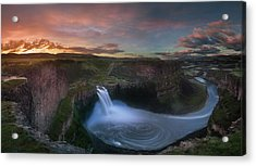 Acrylic Print featuring the photograph Palouse Falls Sunrise by William Lee