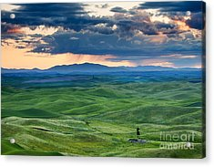 Palouse Storm Acrylic Print by Mike  Dawson