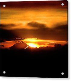 Palouse Sunset Acrylic Print by David Patterson