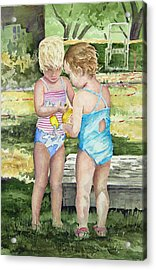 Pals Share Acrylic Print by Sam Sidders