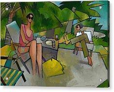 Pam And Randy At Lanikai Acrylic Print