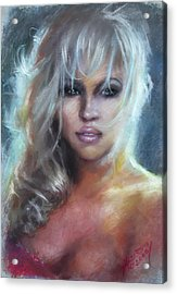 Pamela Anderson Acrylic Print by Ylli Haruni