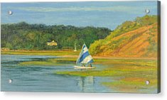 Pamet Harbor Early Evening Acrylic Print by Phyllis Tarlow