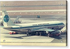 Pan Am 707-321 At Los Angeles International Airport Acrylic Print
