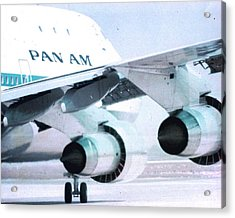 Pan Am 747 At Los Angeles International Airport Acrylic Print