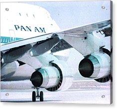 Pan Am 747 At Los Angeles International Airport Acrylic Print