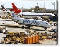Pan American 727 Pushed Back From Its Gate At Frankfurt Acrylic Print