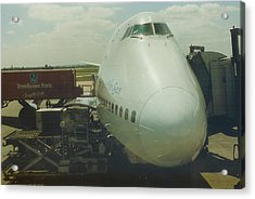 Pan American 747 At London Heathrow Airport Acrylic Print