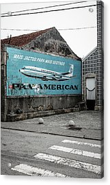 Pan American Vintage Ad II Acrylic Print by Marco Oliveira