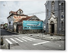 Pan American Vintage Ad IIi Acrylic Print by Marco Oliveira