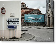Pan American Vintage Ad Iv Acrylic Print by Marco Oliveira