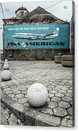 Pan American Vintage Ad Acrylic Print by Marco Oliveira