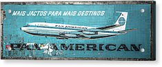 Pan American Vintage Ad V Acrylic Print by Marco Oliveira