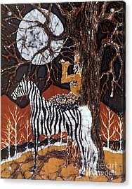 Pan Calls The Moon From Zebra Acrylic Print by Carol Law Conklin