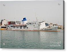 Panagia Tinou Ferry Sinking In Athens Acrylic Print