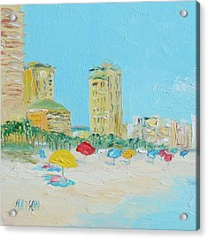 Panama City Beach Painting Acrylic Print by Jan Matson