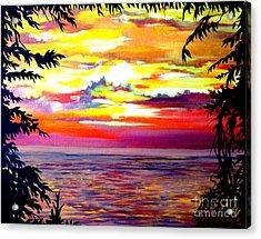 Panama.pacific Sunrise Acrylic Print