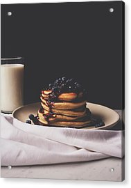 Pancakes For Breakfast Acrylic Print by Happy Home Artistry